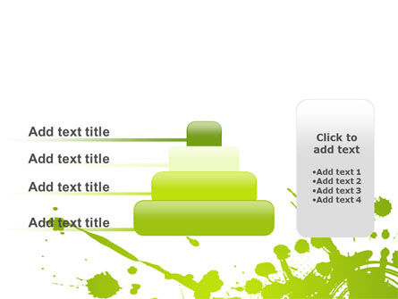 Green Splash PowerPoint Template Slide 8