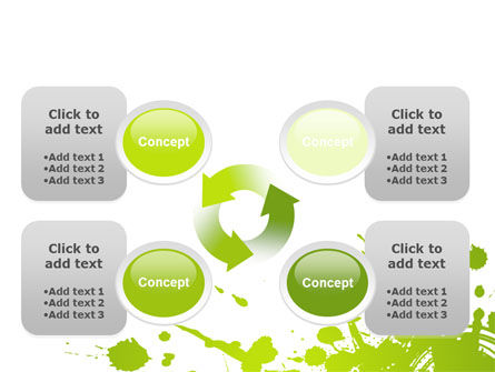 Green Splash PowerPoint Template Slide 9