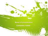 Abstract/Textures: Green Splash PowerPoint Template #09278