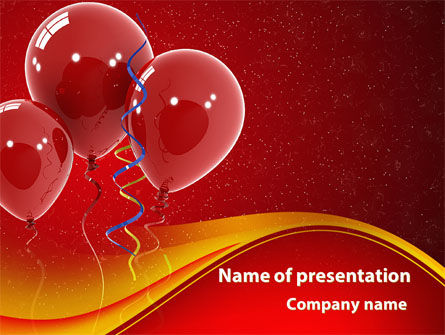 Red Balloons PowerPoint Template, 09279, Holiday/Special Occasion — PoweredTemplate.com