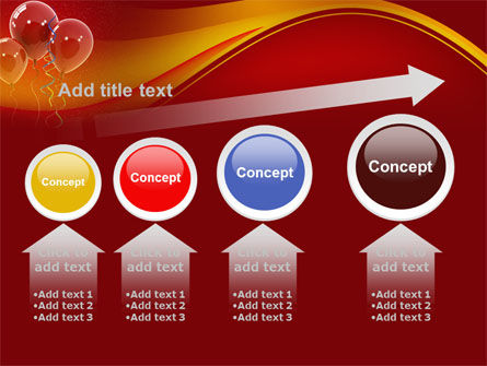 Red Balloons PowerPoint Template Slide 13