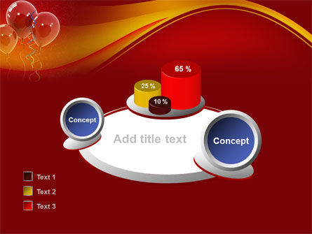 Red Balloons PowerPoint Template Slide 16