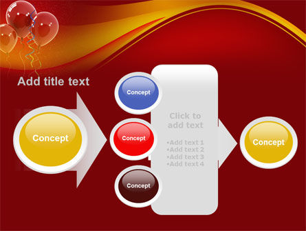 Red Balloons PowerPoint Template Slide 17