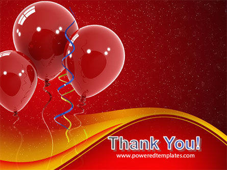 Red Balloons PowerPoint Template Slide 20