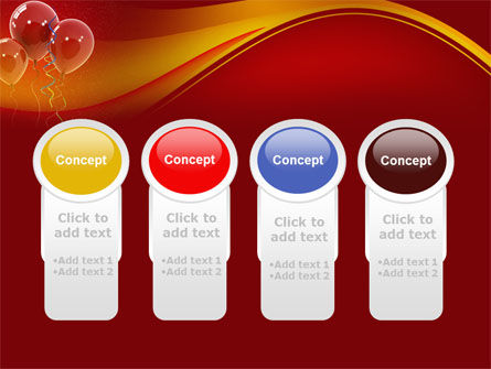 Red Balloons PowerPoint Template Slide 5