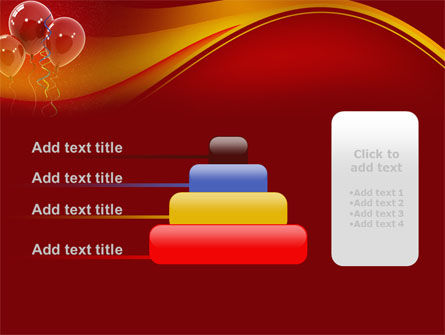 Red Balloons PowerPoint Template Slide 8