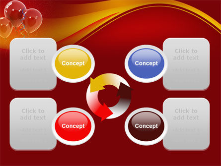 Red Balloons PowerPoint Template Slide 9