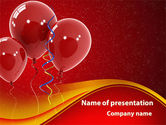 Holiday/Special Occasion: Red Balloons PowerPoint Template #09279