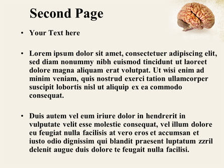 Human Brain As Anatomical Preparation PowerPoint Template, Slide 2, 09280, Medical — PoweredTemplate.com