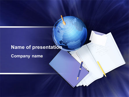 Global: Study of Geography PowerPoint Template #09281
