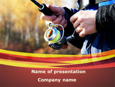 Nature & Environment: Fishing On A Spinning PowerPoint Template #09284