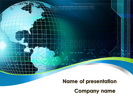 Global Digital Technologies PowerPoint Template, 09285, Global — PoweredTemplate.com