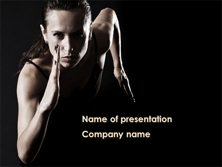 Running Girl PowerPoint Template, 09286, Sports — PoweredTemplate.com