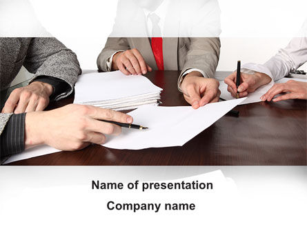 Consulting: Business Meeting PowerPoint Template #09287