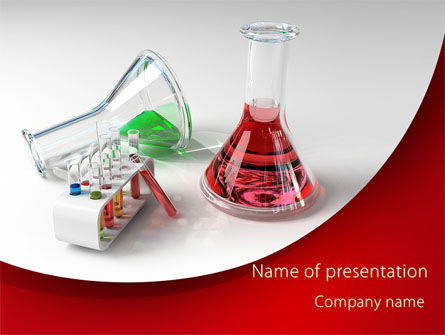 Chemical Lab Equipment PowerPoint Template, 09288, Technology and Science — PoweredTemplate.com