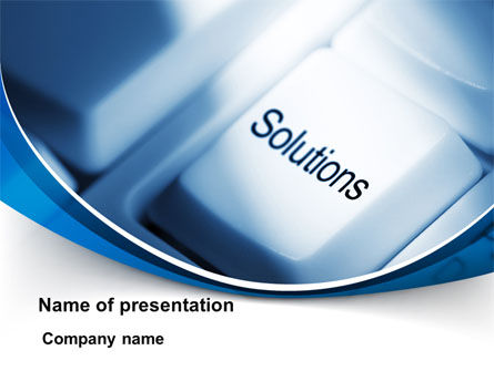 Computers: Key Of Solutions PowerPoint Template #09292