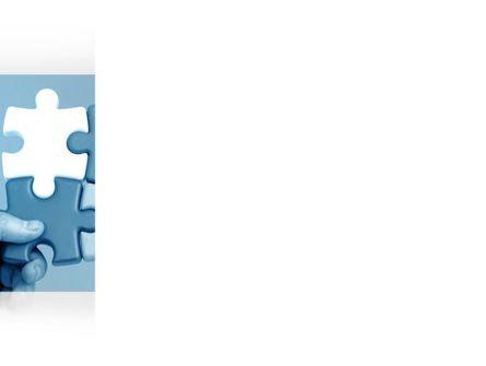 Blue Puzzle Solving PowerPoint Template, Slide 3, 09293, Business Concepts — PoweredTemplate.com