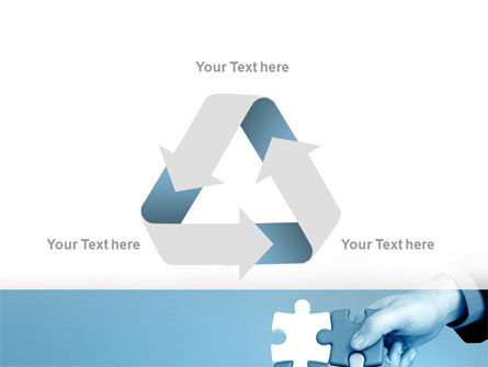 Blue Puzzle Solving PowerPoint Template Slide 10