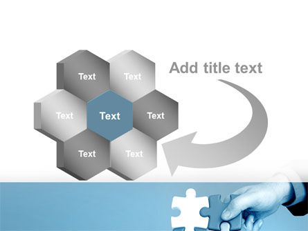 Blue Puzzle Solving PowerPoint Template Slide 11