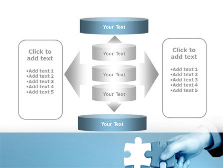Blue Puzzle Solving PowerPoint Template Slide 13