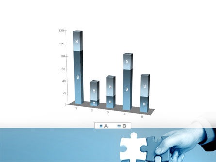 Blue Puzzle Solving PowerPoint Template Slide 17