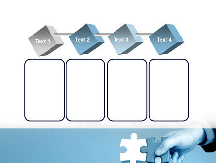 Blue Puzzle Solving PowerPoint Template Slide 18