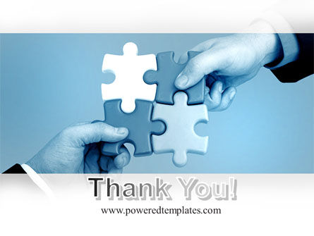Blue Puzzle Solving PowerPoint Template Slide 20