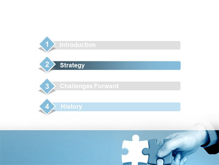 Blue Puzzle Solving PowerPoint Template, Slide 3, 09293, Business Concepts — PoweredTemplate.com