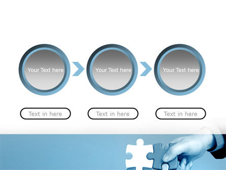 Blue Puzzle Solving PowerPoint Template Slide 5