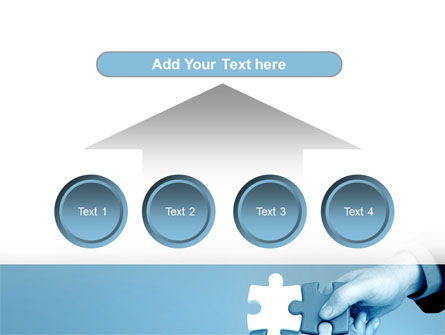 Blue Puzzle Solving PowerPoint Template Slide 8