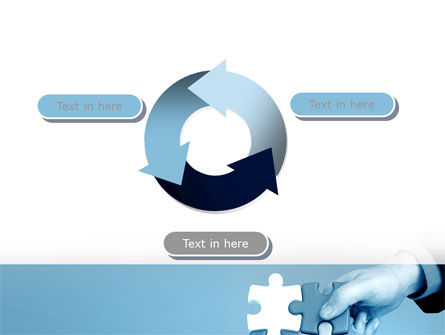 Blue Puzzle Solving PowerPoint Template Slide 9