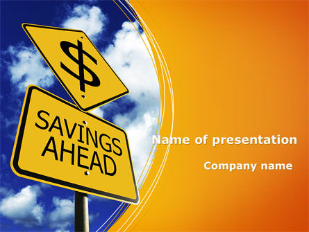 Financial/Accounting: Saving Ahead PowerPoint Template #09294