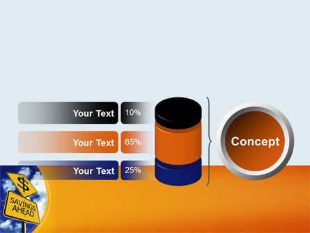 Saving Ahead PowerPoint Template Slide 11