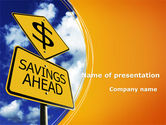Financial/Accounting: Besparing Vooruit PowerPoint Template #09294