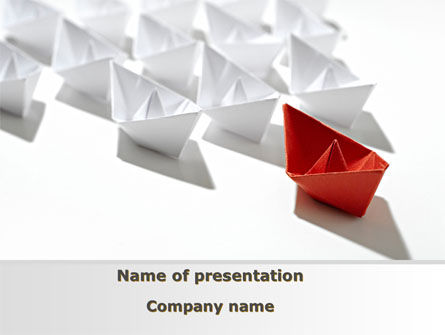 Consulting: Leader Flagship PowerPoint Template #09295