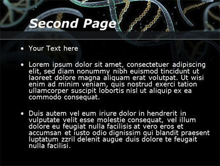 DNA Helix PowerPoint Template, Slide 2, 09297, Technology and Science — PoweredTemplate.com
