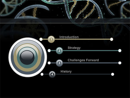 DNA Helix PowerPoint Template, Slide 3, 09297, Technology and Science — PoweredTemplate.com
