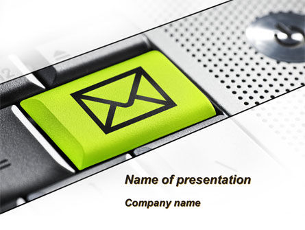 Email Hosts PowerPoint Template, 09298, Telecommunication — PoweredTemplate.com