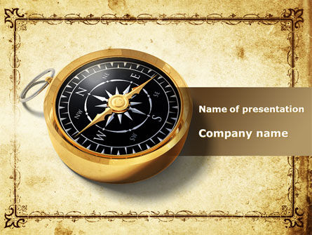 Business Consulting Compass PowerPoint Template