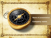 Global: Business Consulting Compass PowerPoint Template #09299