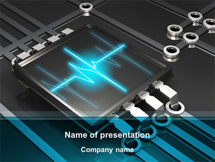 Technology and Science: Computer Processor Chip PowerPoint Template #09300