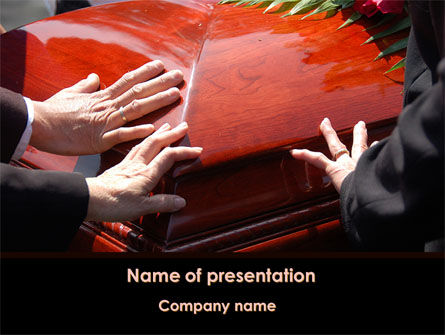 Religious/Spiritual: Coffin PowerPoint Template #09301