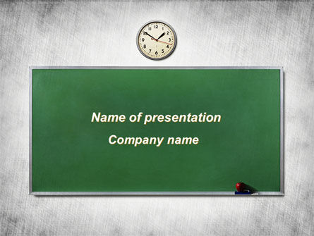 Blackboard In A Classroom PowerPoint Template