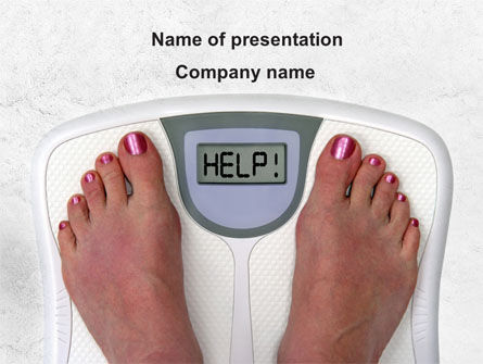 Sports: Weight Loss Help PowerPoint Template #09303