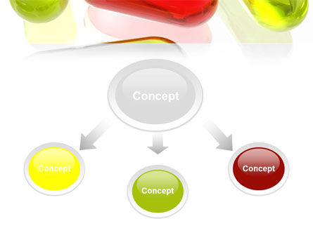 Red Pill Among Green Pills PowerPoint Template, Slide 4, 09304, Medical — PoweredTemplate.com