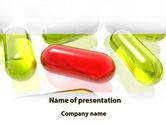 Medical: Red Pill Among Green Pills PowerPoint Template #09304