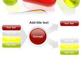 Red Pill Among Green Pills PowerPoint Template#14