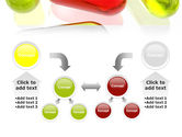 Red Pill Among Green Pills PowerPoint Template#19