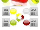 Red Pill Among Green Pills PowerPoint Template#9