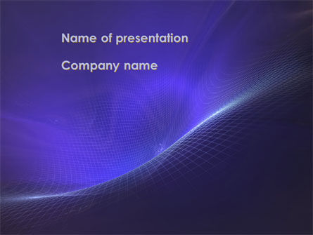 Blue Fragmented Surface PowerPoint Template